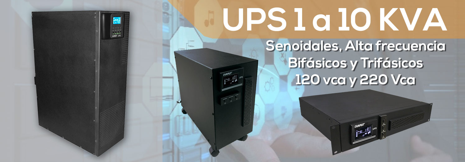 Equipos de alta frecuencia de gama industrial. <a href='http://www.complet.mx/ups-senoidal/'>Ver mas...</a>